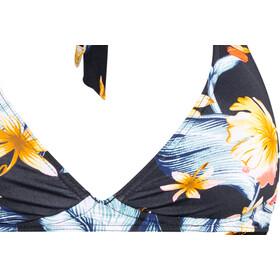 Roxy Dreaming Day Ful Halter Ful Bottom Bikini Kobiety, anthracite tropical love